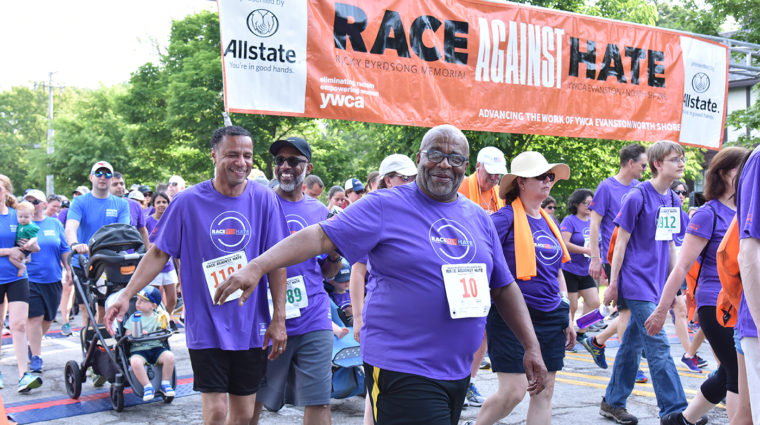Smiling Race Against Hate participants