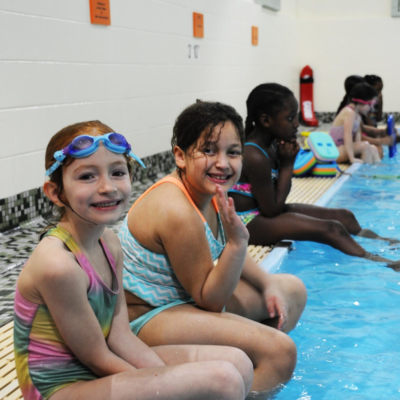 Children in swim school
