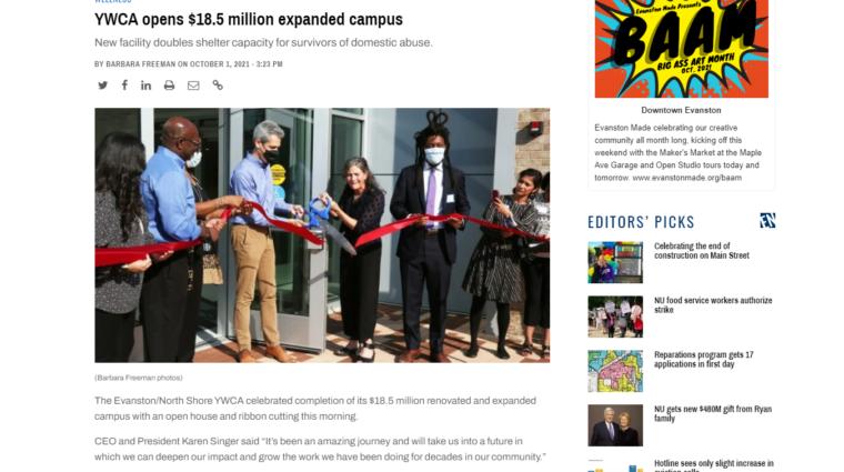 Evanston Now Community Open House article