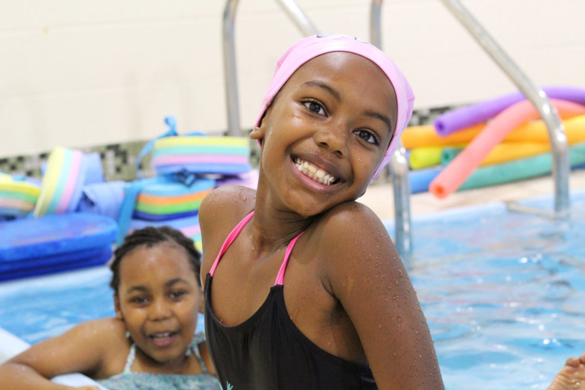 Swimmers in Evanston Swims program