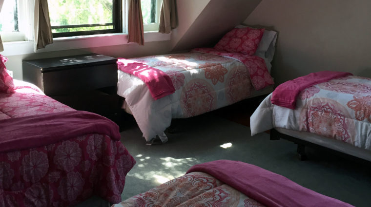 Photo of bedroom at shelter