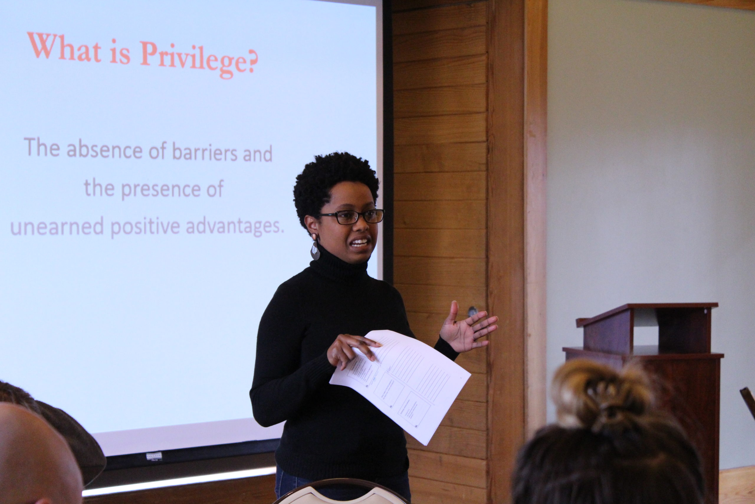 LeAnn teaching a Racial Equity workshop