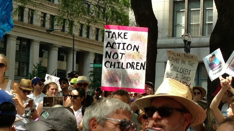 Marchers at Keep Families Together Rally