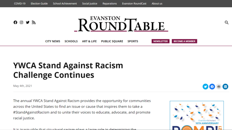 Evanston Roundtable article