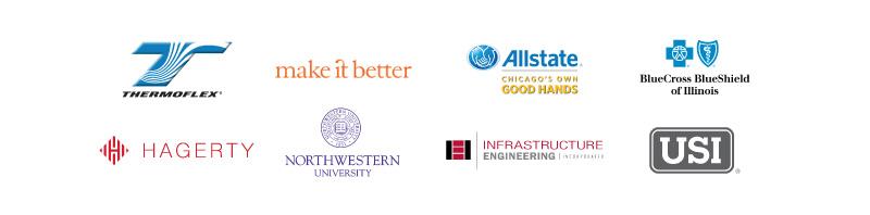 YWomen supporting sponsor logos